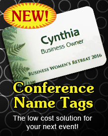 Conference Badges for meetings and events.