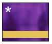 Mirror Purple Metal with Gold Engraving