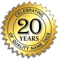 Nametag, Inc. 20 Years Seal