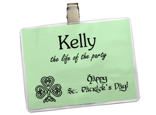 Name Badge Holders: Select by Material