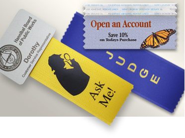 Quality Name Badge Ribbons: Custom & Stock Titles