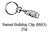 Silver Swivel Bulldog Clip