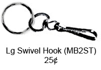 Large Silver Swivel Hook