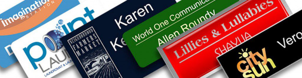 using name tags for networking and branding should include your name and title