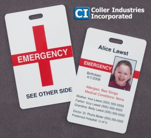 Using An Emergency Contact Card in badge holders for medical professions