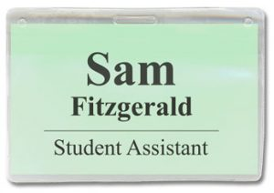 using badge holders and identification and for security in an educational environment