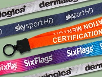 custom lanyards are made from different imprinted materials