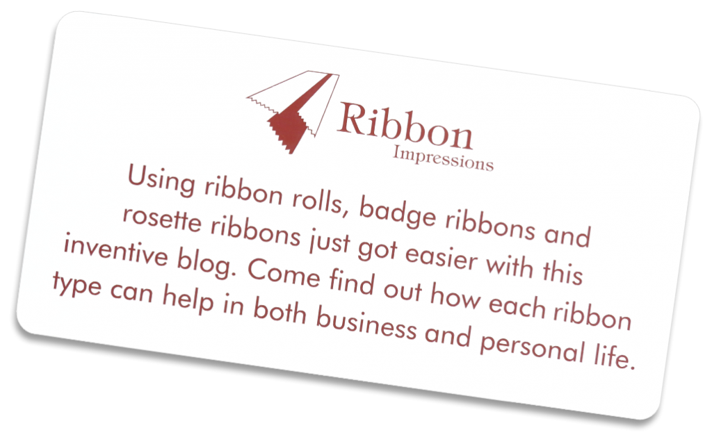 ribbon impressions personalized ribbons blog by coller industries incorporated