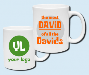 the power of personalization shown on two mugs with one featuring an individual's name