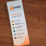 custom top ribbons for business cards may help with customer retention