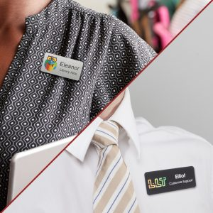 Name tags for teachers and employees going back to school and work can help everyone to take pride in their employment.