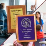 Going back to school and work is easier with award plaques for students and employees.