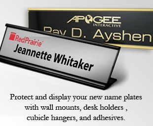 Name Plates Classic Logo Reusable Desk Blocks And Wedges - Desk name tag template