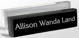 Name Plates Classic Logo Reusable Desk Blocks And Wedges - Office desk name tag template