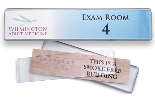 2x10 inch contemporary style nameplates