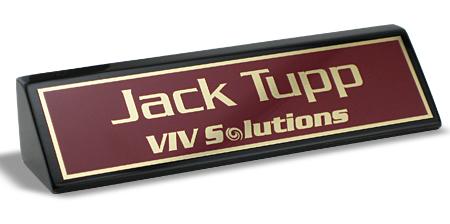 executive name plates desk wedges tag inc - Name Tag Design Ideas
