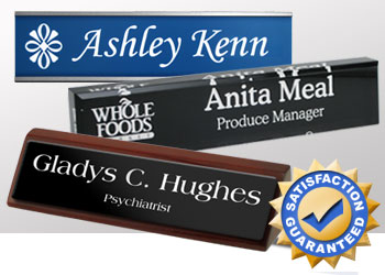 Name Plates: Classic, Logo, Reusable, Desk Blocks and Wedges