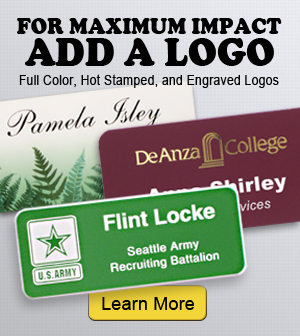 Add a logo to your name tags