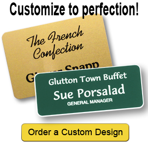Create custom designs for your name tags.