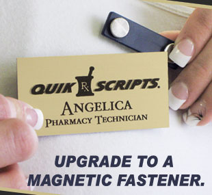 Magnetic fasteners are strong and easy to use, holding securely through multiple layers of fabric.