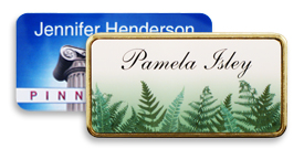 Digitally Printed Plastic Name Tags