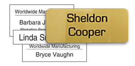 Stock Metal Name Tags
