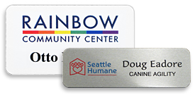 Logo Name Tags Name Badges With An Engraved Or Color Logo