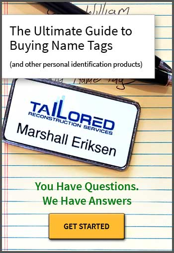 Buying guide for name tags.