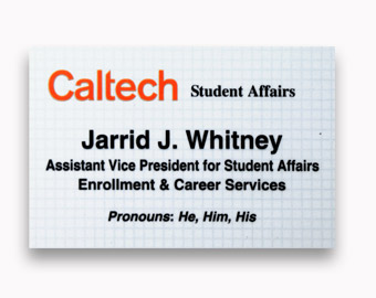 2x3 inches digitally printed name tag