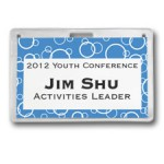 Vinyl badge holders are perfect for reusable visitor ID badges