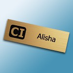 engraved plastic name tags help identify you to the world