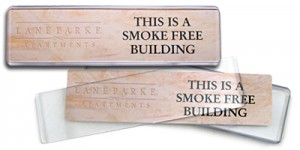 use a Contemporary Name Plate for directions in your office or retail store