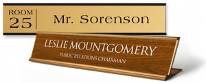 name plates are a great personal identification tool to ensure a good customer experience