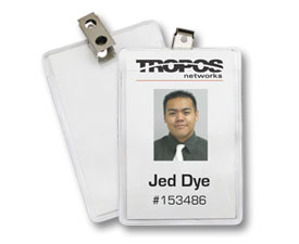 the features found on photo id badges are perfect for security and branding