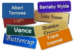 classic name tags have features to help maintain individuality with names and titles