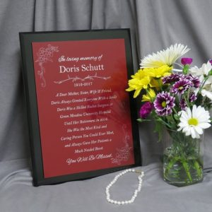 12x15 High Gloss Black Finish Value Plaques can be used as a memorial plaque