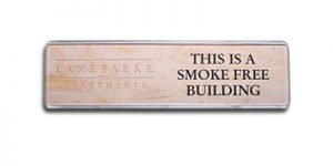 a contemporary name plate is useful for office signs and instructions