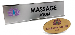 using name plates and custom shape name tags for consistency in your branding