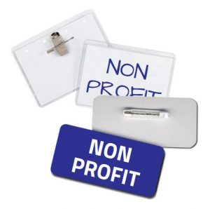 using name tags and name badges for nonprofit events and identification needs
