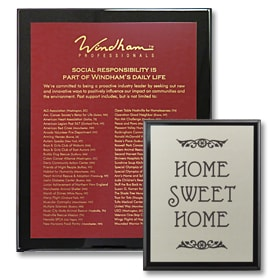 custom plaques are perfect for a good customer experience by giving information about a business