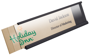 reusable name plate kits are perfect for high turnaround positions