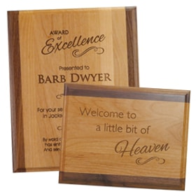 use an alder plus standard custom plaque for quotes for wall decor in an office or home