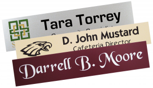add a logo or just text to your next name plate