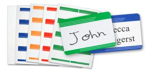 Adhesives Name badges for any event.