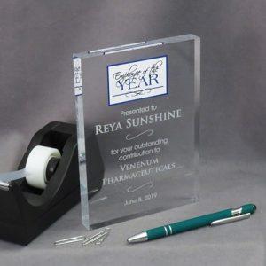 crystal acrylic plaque for employee of the year reya sunshine