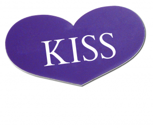 KISS keep it short and simple in designing name tags