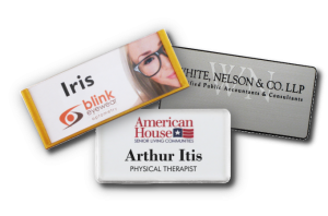 connecting with customers is easier with reusable name badges