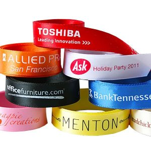Eight custom ribbon rolls for wrapping the right corporate gifts.