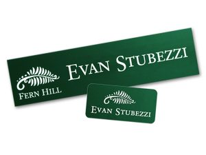 Matching name plates and name tags from Coller Industries will help your company find business success.