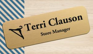 Using the power of name is easy with a name tag for your employees at your store.